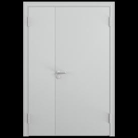 Дверь противопожарная двустворчатая 2ДП-1 (EI60)глухая, Порошково-полимерное покрытие, —, RAL 7035 серый