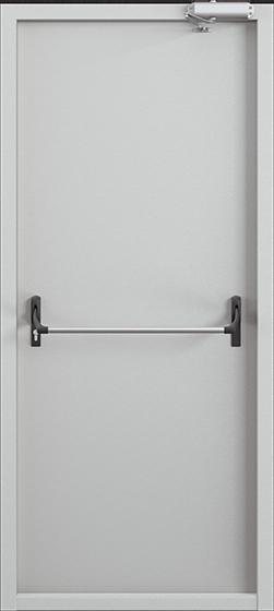 Дверь противопожарная ДП-1 (EI60) глухая, Порошково-полимерное покрытие, —, RAL 7035 серый