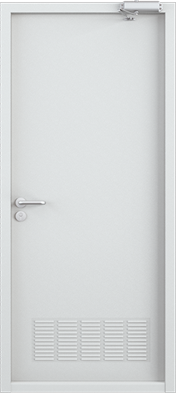 Дверь техническая, Порошково-полимерное покрытие, —, RAL 7035 серый