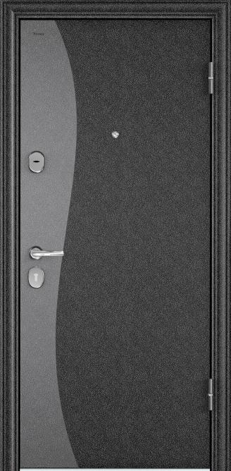 Металлическая дверь DELTA 07, Порошково-полимерное покрытие, SP-8G, Черный шелк