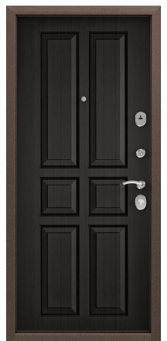 Металлическая дверь DELTA 07, Скандинавская панель с ПВХ покрытием, СК-2, Венге