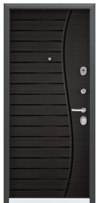 Металлическая дверь PROFESSOR-4+ 02 PP, Панель MDF с ПВХ покрытием, D8, Венге поперечное