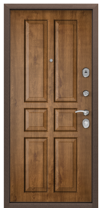 Стальная дверь DELTA 07, Панель MDF с покрытием Cortorex, СК-2, Дуб медовый