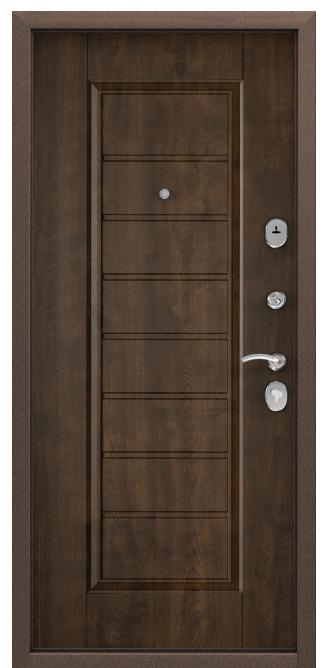 Стальная дверь DELTA 07, Панель MDF с покрытием Cortorex, СК-5-S, Орех грецкий