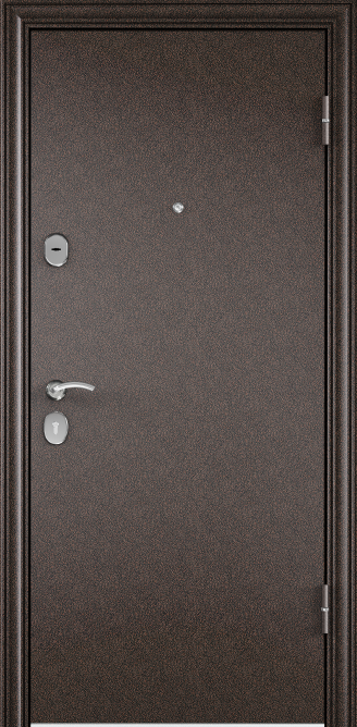 Стальная дверь DELTA 07, Порошково-полимерное покрытие, —, Медный антик