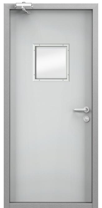 Дверь противопожарная EI 60, Порошково-полимерное покрытие, —, RAL 7035 серый в Краснодаре