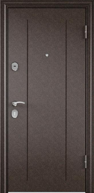Металлическая дверь DELTA 07, Порошково-полимерное покрытие, RGSO, Медный антик